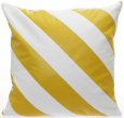 Brera leather pillow with alternating stripes and eye popping color combinations